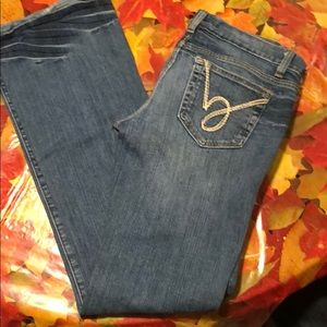 Casual Bebe jeans with swirl on pocket